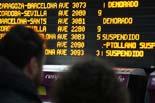 Temporal de fred i neu a Catalunya 21.12.2009 11.07 - La pantalla electrònica mostra els trens cancel·lats. Foto: Roger Pi de Cabanyes/ACN