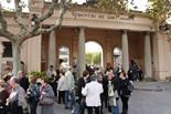 Diada de Tots Sants Entrada del cementiri de Sant Andreu de Barcelona, aquest dimarts per Tots Sants.