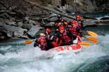 Un agost potent salva la temporada turística Turistes fent un descens de ràfting pel Noguera Pallaresa, al Pallars Sobirà. Foto: Marta Lluvich