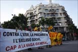 Manifestació de la vaga de funcionaris a Barcelona (Tarda)