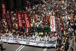 Manifestació de la vaga de funcionaris a Barcelona (matí)