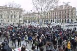 Vaga general 27 de gener: concentració a la plaça Sant Jaume