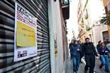 Vaga general al barri de Gràcia de Barcelona