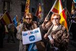 Acte del PPC a la Plaça del Rei de Barcelona