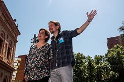 Municipals 2015: acte de Barcelona en Comú a la plaça Major de Nou Barris