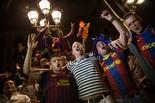 Celebració a Canaletes de la lliga blaugrana