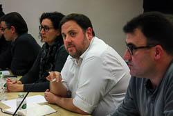 Les cares del dia després: el no de la CUP a Mas.  Oriol Junqueras, minuts abans de començar la reunió de l'executiva de ERC | Patricia Mateos / ACN