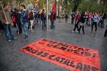 12-O: manifestació antifeixista a Barcelona