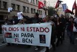 Protestes contra el Papa