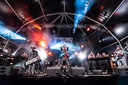 Mercat de Música Viva de Vic 2015 Obeses, a l'escenari de la Plaça Major de Vic