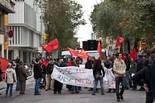 Vaga general #14N: Piquets a Gràcia
