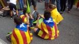 Via Lliure Ponent Un grup de nens esperant l'inici de la manifestació