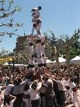 Fira de Sant Isidre 2011 Els castellers de Solsona van fer un 3de6 a la Fira