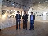 Fira del Trumfo i de la Tòfona 2011 Inaugurant l'exposició de fotògrafs Català