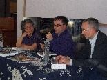 Presentació llibre Cuina catalana i tradicional Kazuko Sano, autora del llibre, Josep Sucarrats, director de la revista Cuina, i Narcis Clotet, editor del llibre