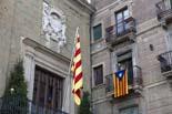 13D a Osona La senyera oneja en solitari a l'Ajuntament de Vic. Foto: Adrià Costa