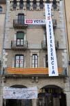 13D a Osona Pancartes a la plaça Major de Vic. Foto: Adrià Costa