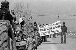 Tractorada a Osona el 1978