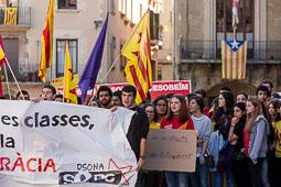 Manifestació d'estudiants a Vic en defensa de la consulta del 9-N