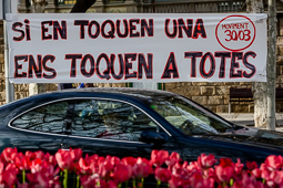 Manifestació a Vic en suport de Joan Coma Roura