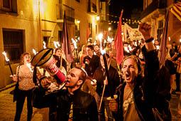 Diada Nacional 2017: Marxa de torxes de l'esquerra independentista a Manlleu