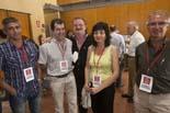Municipals 2011: jornada electoral a Osona Concepció Baucells amb militants de SI, aquest migdia a Taradell. Foto: Adrià Costa