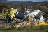 Accident amb 3 camions a la C-25 a Gurb