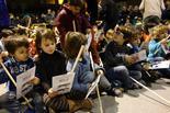 Activitats de Nadal a Sant Pere de Torelló Cagada del Tió.