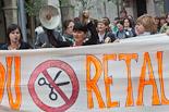 Cassolada contra les retallades en educació a Manlleu