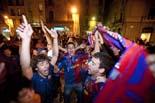 Vic celebra la victòria del Barça a la Lliga