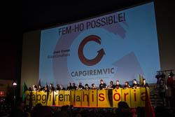Municipals 2015: acte central de Capgirem Vic amb David Fernández i Teresa Forcades
