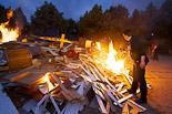 Arribada de la Flama del Canigó a Roda, 2013