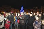 Foguera de Nadal a la plaça Major de Vic