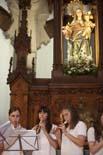 Irene Rigau a l'escola El Roser de St. Julià