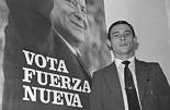 Josep Anglada, una vida accidentada, en imatges 1982. En campanya electoral per Blas Piñar i Fuerza Nueva. Foto: Josep Maria Montaner