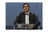 Josep Anglada, una vida accidentada, en imatges Juny de 1989. Membre de la llista del Frente Nacional a les eleccions europees, en un debat a TV3.
