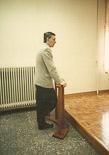 Josep Anglada, una vida accidentada, en imatges 1990. Declarant al judici per les denúncies amb Albert Sans Foto: Arxiu La Marxa.