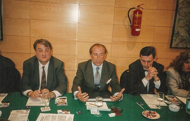 Josep Anglada, una vida accidentada, en imatges Febrer de 1992. Amb José María Ruiz Mateos a Vic, a l'Hotel Ciutat de Vic (Foto: MM).