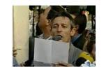 Josep Anglada, una vida accidentada, en imatges 18/07/2002. Encapçalant la manifestació contra una mesquita a Premià de Mar (El Maresme).