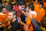 Josep Anglada, una vida accidentada, en imatges 02/05/2005. Josep Anglada a les festes del carrer de Gurb. Foto: Adrià Costa.
