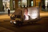 Josep Anglada, una vida accidentada, en imatges 23/11/2010. La Guàrdia Urbana fa fora de la plaça Major de Vic el camió electoral de la PxC. Foto: Adrià Costa.