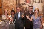Josep Anglada, una vida accidentada, en imatges 22/05/2011. Nit electoral. Els cinc regidors electes de PxC a Vic. Foto: Adrià Costa.