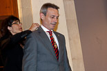 Josep Anglada, una vida accidentada, en imatges 11/06/2011. Anglada, investit regidor de Vic. Foto: Adrià Costa.