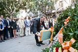 Josep Anglada, una vida accidentada, en imatges 10/09/2011. Ofrena floral a l'estàtua de Rafael Casanova, a Barcelona. Foto: Adrià Costa.