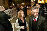 Josep Anglada, una vida accidentada, en imatges 16/11/2011. Protesta contra la PxC a l'entrada de l'acte central de PxC a les eleccions generals, a Barcelona. Foto: Adrià Costa.