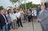 Josep Anglada, una vida accidentada, en imatges 29/05/2012. Acte de record a les víctimes de l'atemptat d'ETA a Vic. Foto: Adrià Costa.
