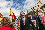 Josep Anglada, una vida accidentada, en imatges 12/10/2013. Anglada, a la manifestació del Dia de la Hispanitat a Barcelona. Foto: Jordi Borràs.