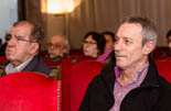 Josep Anglada, una vida accidentada, en imatges 31/03/2014. A la presentació del llibre de Josep Burgaya, primera aparició en públic l'endemà de ser expulsat del partit. Foto: Adrià Costa.