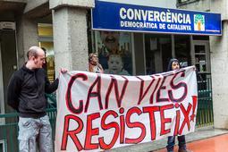 Manifestació a Vic contra l'enderroc de Can Vies