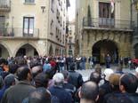 Manifestació contra Anglada i PxC a Vic Concentració inicial davant l'Ajuntament de Vic.